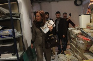 Tras el ataque, Cristina Fernández visitó Tiempo Argentino y Radio América