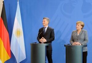 """Macri confía en el """"liderazgo de Alemania"""" para un acuerdo UE-Mercosur"""