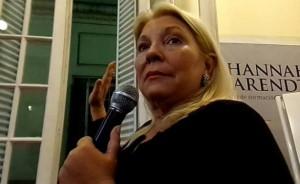 """Para Carrió la amenaza de muerte es """"creíble"""", debido a la denuncia de complicidad policial"""