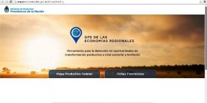 Open data: Producción presentó el GPS de las Economías Regionales