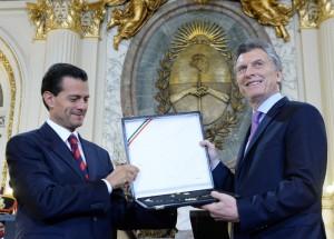 Macri y Peña Nieto anuncian el libre comercio bilateral para el año próximo
