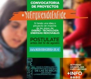 #12Agosto Cierra la Convocatoria de proyectos  #YoEmprendoEnFide