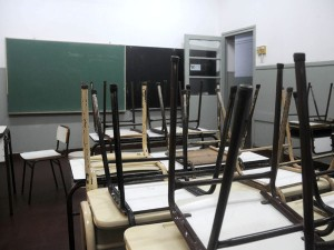 aula sin clases