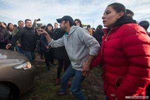 manifestantes contra macri en mar del plata