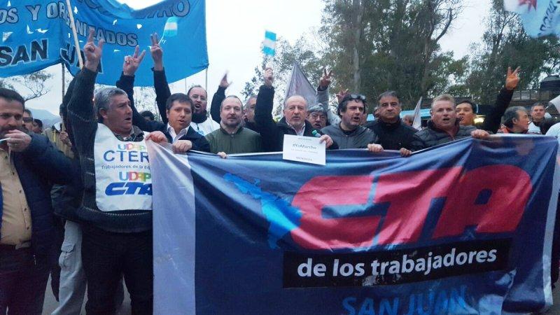 marcha federal columna encabezada por yasky