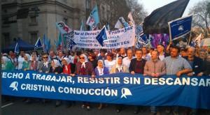 Hebe y Máximo cargaron contra Macri al concluir la Marcha de la Resistencia K