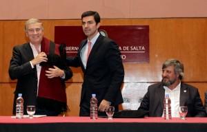Aliado peronista de Macri se muestra con funcionarios nacionales (radicales) por acuerdo en materia de telecomunicaciones