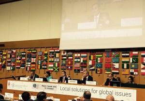 Mestre firmó convenio en Turín y expuso en la FAO sobre política alimentaria urbana