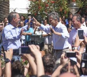 Macri y Schiaretti cultivan un vínculo más que institucional, hasta con baile incluido