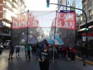 Con un corte en el centro porteño, el Frente Darío Santillán visibilizó jornada de protesta