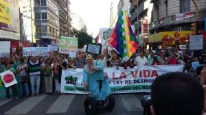 """Una masiva marcha le dijo NO a la """"Ley del Desmonte"""""""