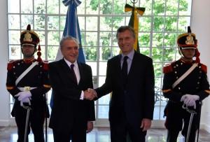 Comercio e inversiones, dos de los temas de la agenda de Macri y Temer en Brasil