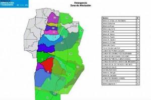 Inundaciones: Elevan informe a Schiaretti con zonas en estado de emergencia agropecuaria