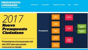 Finanzas lanzó Presupuesto Ciudadano 2017