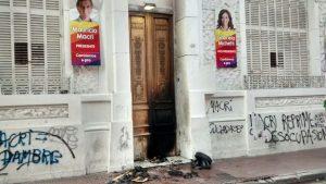 Legisladores radicales repudiaron el ataque incendiario a la sede del PRO