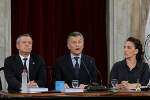 Macri dio un mensaje de alto contenido político y buscó polarizar con el kirchnerismo