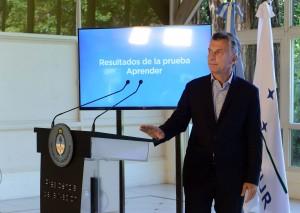 Tras calificar de «doloroso» el mal resultado de las pruebas, Macri anunció el envío al Congreso del Plan Maestro