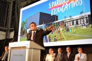 Mestre anunció obras por 5 mil millones y se mostró alineado con Macri