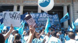 """En jornada de paro, docentes se movilizaron para repudiar """"represión"""" en CABA y demandar oferta salarial"""