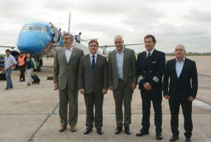 """Con vuelo inaugural se puso en marcha el """"hub"""" Córdoba"""