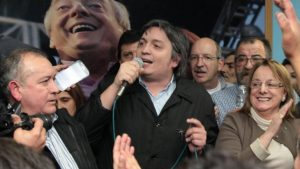 "Máximo acusó a Macri y a Peña de ""estar detrás"" de los incidentes de anoche"