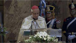 """Tedeum: Ante Macri, el arzobispo Poli afirmó que  """"la inequidad genera violencias"""""""