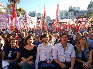 """Del Caño: """"Nuestro acto fue el único que marcó la agenda de los trabajadores"""""""
