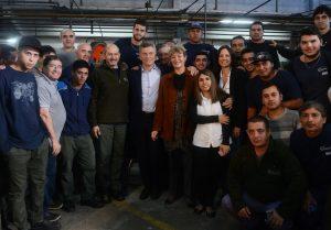Al visitar una fabrica de Florencio Varela, Macri dio detalles del Plan Empalme