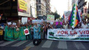 Ley de Bosques: Con nueva marcha, colectivo ambientalista renueva su rechazo al proyecto oficialista
