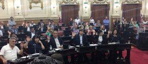 """Unicameral: Al acusar de """"persecución"""", legisladores de extracción sindical repudiaron la intervención del gremio de los Canillitas"""