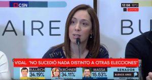 """""""A lo mejor esperaba sacar más votos"""", ironizó Vidal acerca de CFK"""