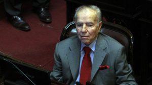 «Está procesado por violación a los derechos humanos», dijo Carrió sobre Menem