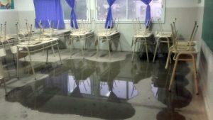 """Musso cuestionó """"la demagogia del gobierno"""" ante las aulas afectadas por la lluvia"""
