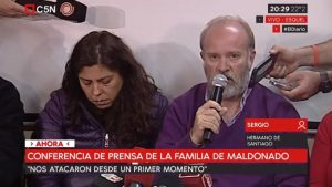 """""""Hasta ahora no podemos confirmar si es el cuerpo de Santiago"""", afirmó Sergio Maldonado"""