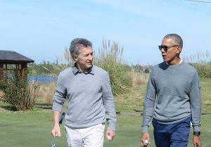 Macri y Obama con charla distendida y un partido de golf, en medio de un fuerte operativo de seguridad