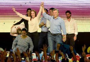 """En un día """"inolvidable"""", Macri destacó que """"nos animamos al cambio, vencimos al miedo y la resignación"""""""