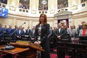 En sesión especial del Senado, juraron CFK, Menem y Rodriguéz Saá