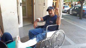 Godoy denunciará a la Policía por represión y lesiones sufridas