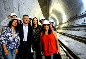 Junto a Vidal, Macri recorrió las obras de soterramiento del Sarmiento