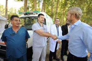 Frigerio y Cornejo recorrieron el operativo de frontera por la visita del papa Francisco a Chile