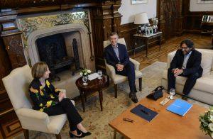 Tras ser propuesta por el Gobierno, Weinberg de Roca se reunió con Macri
