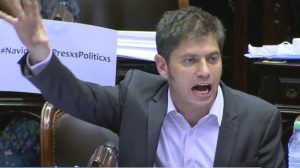 """Ustedes gobiernan desde un country"", le dijo Kicillof a Peña"