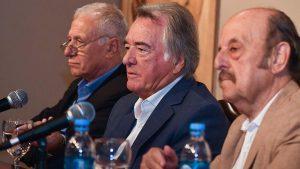 """""""De acá saldrá la fórmula presidencial"""", dijo Barrionuevo al asumir su intervención en el PJ nacional"""