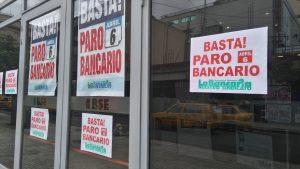Sin solución al conflicto salarial, Bancarios no descartan un nuevo paro de 48 horas