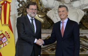 """Rajoy destacó """"la política decidida de reformas y de apertura económica que ha emprendido"""" el Gobierno de Macri"""