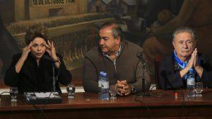En el día del trabajador, Dilma se mostró con la CGT y con Cristina Kirchner