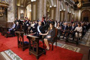 """Macri escuchó el mensaje de Poli, quien habló de la """"justicia distributiva largamente esperada"""""""