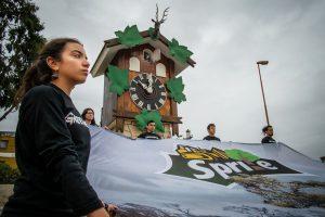 Campaña de Greenpeace por la protección de los bosques llegó al Cucú de Carlos Paz