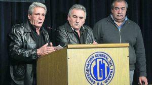 """""""El consejo directivo quiere el paro"""", afirmó Acuña, triunviro de la CGT"""