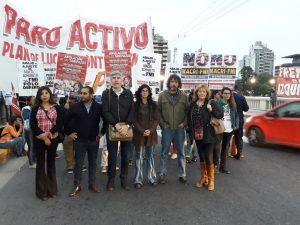 La Izquierda activa cortes de calles en la jornada de paro nacional